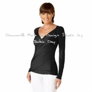 Techno Jersey S'Wrap Cardigan by LUKASTYLE BLACK Medium