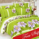 Orchidea Flowers European Garden Duvet Bedding Set KING