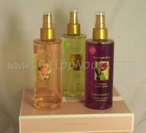 Trio of LTD Edition Victorias Secret Garden Passionate Kisses Body Splash
