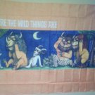 WHERE THE WILD THINGS ARE Scary Max Cloth Fabric Poster Flag OOP-NEW! IN STOCK!