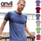 Anvil Men's Cotton Lightweight Ringer T-shirt Tee Tshirt 988 988AN-8 COLORS-NEW!