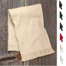 NEW Anvil Fingertip Towel T600 Fringed 100% Cotton Multiple Colors