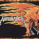 METALLICA FLAMING SKULL JAMES HETFIELD VINTAGE 2000 VINYL STICKER BUMPER-NEW!!