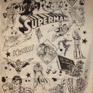 DC COMICS SUPERMAN B/W COLLAGE Cloth Fabric Poster Flag Tapestry Wall Banner-NEW