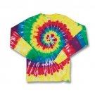 240MS Spiral Print Tie Dye Long Sleeve Tee Dyenomite T-Shirt New!