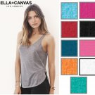 Bella+Canvas Women's Mini Rib Stretch Fit Long Length Tank Top Shirt 8780 New!
