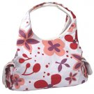 White and Cherry Floral Designer Purse