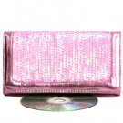 Sexy Trendy Pink Sequin Clasp Purse Wallet
