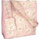 Pink HAWAIIAN Floral Print Purse Diaper Beach Bag