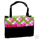 Plaid and Lace Black Purse and Wallet Set #1