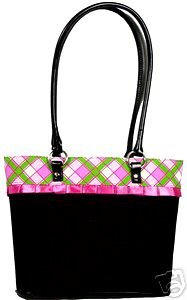 Plaid and Lace Black Purse and Wallet Set #2