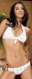 Nautical Halter Top with Eyelette Weave and Bikini Bottom