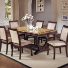 ART DECO MARBLE TOP FORMAL DINING ROOM TABLE SET CHAIRS