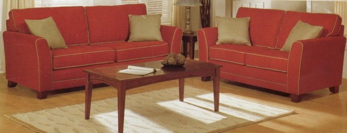 MODERN RED SET SOFA LOVE SET SEAT COUCH LIVING ROOM