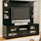 CONTEMPORARY ESPRESSO PLASMA MEDIA PANEL CABINET STAND