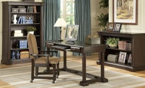OLD WORLD STYLE BROWN WRITING HOME OFFICE DESK KEYBOARD