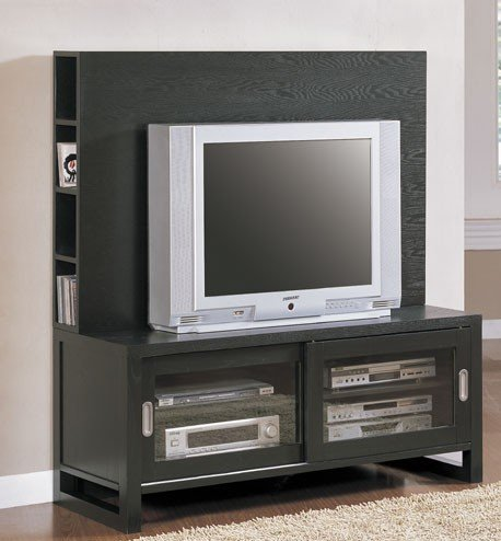 ASIAN FLAIR ESPRESSO PLASMA TV PANEL STAND CABINET UNIT