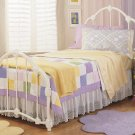 VICTORIA WHITE GLOSS TWIN SIZE BED KIDS FURNITURE BEDS