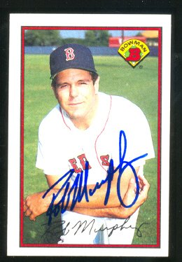 Boston Red Sox Rob Murphy Autograph Signed 1989 Bowman # 22