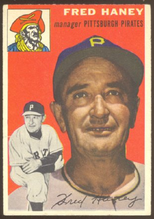 PITTSBURGH PIRATES FRED HANEY 1954 TOPPS # 75 EX