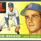 BOSTON RED SOX TOM BREWER 1955 TOPPS # 83 VG