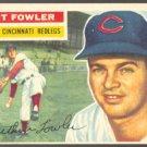 CINCINNATI REDS ART FOWLER 1956 TOPPS # 47 EX+