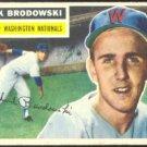 WASHINGTON NATIONALS DICK BRODOWSKI 1956 TOPPS # 157 EX/EX MT