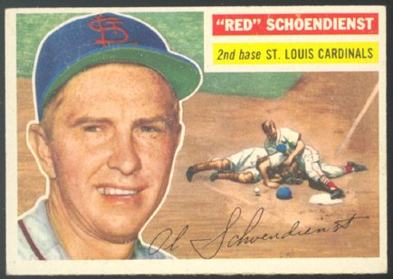 St Louis Cardinals Red Schoendienst 1956 Topps #165 em