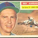 St Louis Cardinals Red Schoendienst 1956 Topps #165 em