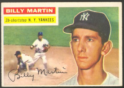 NEW YORK YANKEES BILLY MARTIN 1956 TOPPS # 181 VG