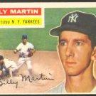 NEW YORK YANKEES BILLY MARTIN 1956 TOPPS # 181 VG