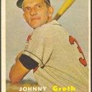 KANSAS CITY ATHLETICS JOHNNY GROTH 1957 TOPPS # 360 EX