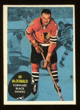 CHICAGO BLACK HAWKS AB McDONALD 61/62 TOPPS # 27