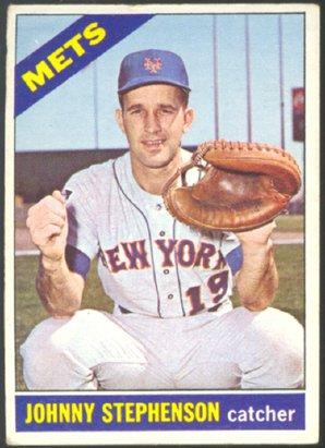 NEW YORK METS JERRY STEPHENSON 1966 TOPPS # 17 VG