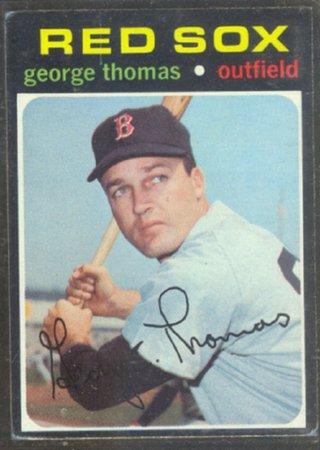 BOSTON RED SOX GEORGE THOMAS 1971 TOPPS # 678 EX
