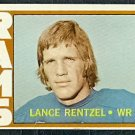 LOS ANGELES RAMS LANCE RENTZELL 1972 TOPPS # 81 G