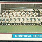MONTREAL EXPOS TEAM CARD 1974 TOPPS # 508 G