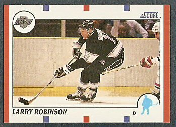 LOS ANGELES KINGS LARRY ROBINSON 90/91 SCORE # 260