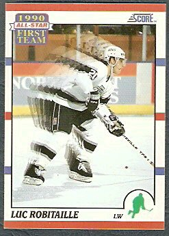 LOS ANGELES KINGS LUC ROBITAILLE A.S.. 90/91 SCORE # 316