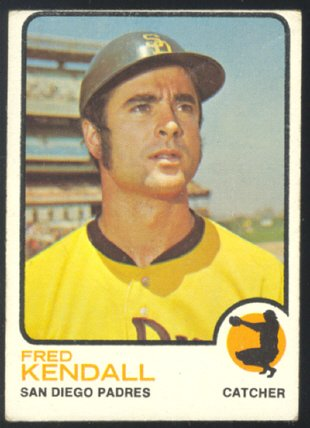 SAN DIEGO PADRES FRED KENDALL 1973 TOPPS # 221 VG OC
