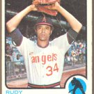 CALIFORNIA ANGELS RUDY MAY 1973 TOPPS # 102 G