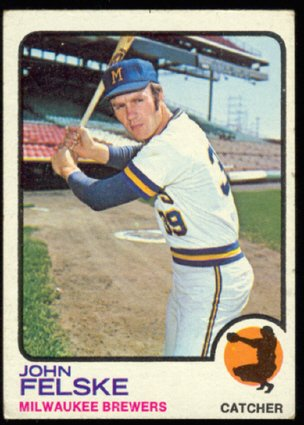 Milwaukee Brewers John Felske 1973 Topps # 332 vg