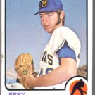 MILWAUKEE BREWERS JERRY BELL 1973 TOPPS # 92