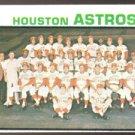 HOUSTON ASTROS TEAM CARD 1973 TOPPS # 158 NR MT MC