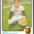 CALIFORNIA ANGELS JEFF TORBORG 1973 TOPPS # 154 NR MT SMC