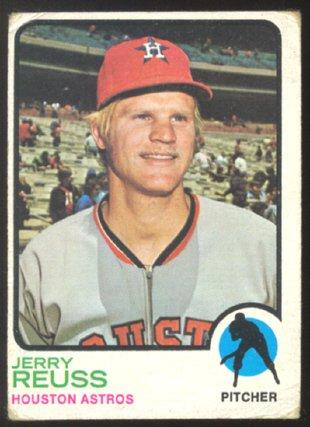 HOUSTON ASTROS JERRY REUSS 1973 TOPPS # 446 G