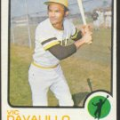 PITTSBURGH PIRATES VIC DAVALILLO 1973 TOPPS # 163 NR MT MC