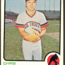 DETROIT TIGERS CHRIS ZACHARY 1973 TOPPS # 256 VG+/EX