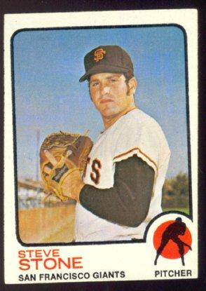 SAN FRANCISCO GIANTS STEVE STONE 1973 TOPPS # 167 EX