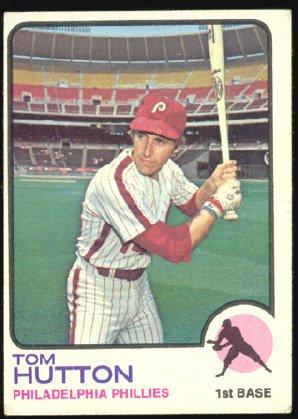 Philadelphia Phillies Tom Hutton 1973 Topps Baseball Card 271 vg/ex